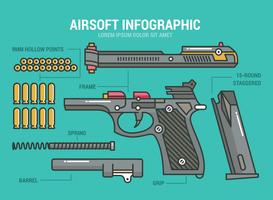infographic airsoft vetor