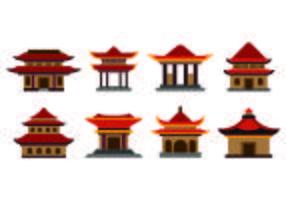 Ícone do Set Of Shrine vetor