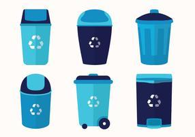 Pacote Vector de cesta de lixo