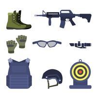 Vetores de pistola plana Airsoft
