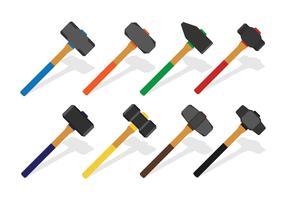 Conjunto de ícones de Sledgehammer vetor
