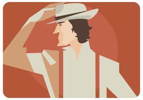 Vetor do homem com chapéu