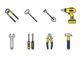 Jogo de ferramentas de artesão vetor