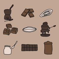 Pacote de Vector de Fondue de Chocolate Doce
