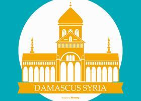 Famosa ilustração da construção da Síria em Damasco vetor