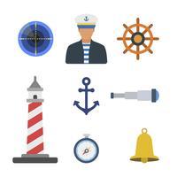 Vetores de marinheiro plano