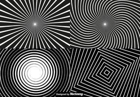 Conjunto de fundo da hipnose do vetor