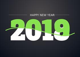 2018 Ilustração do Feliz Ano Novo