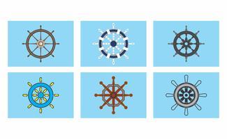 Pacote do vetor da roda dos navios