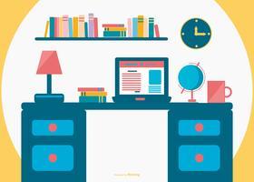 Ilustração plana do escritório vetor