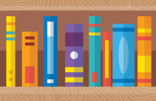Livros coloridos vetor