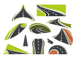 Ícone do logotipo da estrada vetor