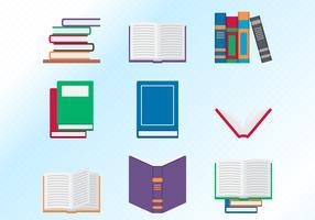 Flat Design Books Set vetor