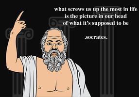 Vetor de fundo de Sócrates