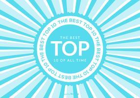 Top 10 Ilustração de fundo vetor