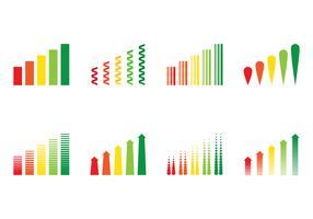 Vectores de gráfico de barras de receita vetor