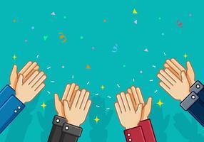Aplausos e mãos aplaudindo fundo do vetor