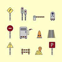 Vectores de pedágio e sinal de trânsito vetor