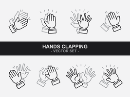 Vetor de ícones de palmas das mãos