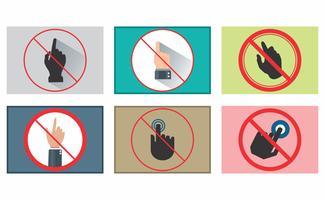 Não toque no pacote vetorial vetor