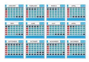 Calendário mensal para imprimir vetor