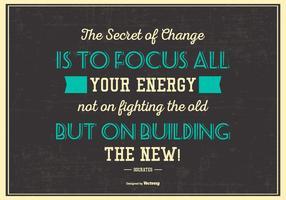 Poster tipográfico das citações de Sócrates vetor