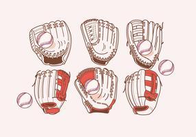 vetor de luva softball