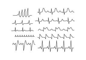 Vector de linha de coleção de ritmo cardíaco livre