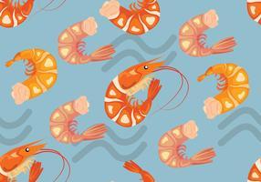 Vetor de padrões sem costura de camarão