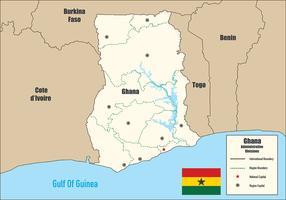 Infografia do Mapa de Gana vetor