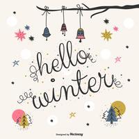 Olá vetor de inverno