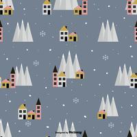 Padrão do vetor da aldeia do inverno