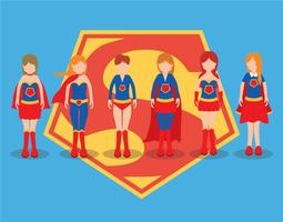 Conjunto de vetores Superwoman
