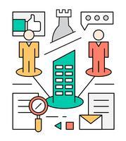 Ilustrações de vetores de liderança de negócios grátis