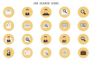 Vetores de pesquisa de emprego gratuitos