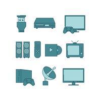 Vetor grátis para ícones de entretenimento doméstico