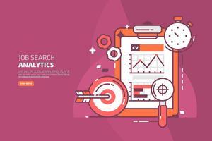 Ilustração de pesquisa de emprego