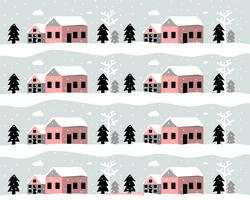 Padrão de vetor de paisagem de inverno