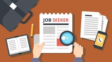 Ilustração do Buscador de Emprego vetor