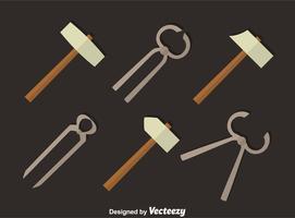 vetor de ferramentas de metal ferreiro