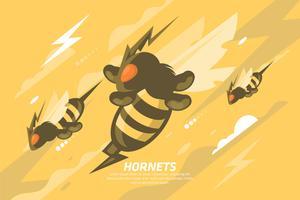 Ilustração de Hornet vetor