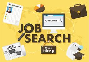 Projeto de design de pesquisa de emprego vetor