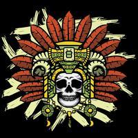 vetor de crânio de shaman