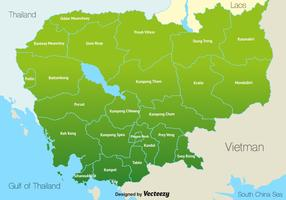 Mapa Camboja do vetor