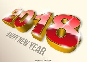 Moderno 2018 Feliz ano novo vetor colorido fundo