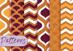 Conjunto de padrões de decoração geométrica vetor