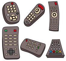 Conjunto de TV Remote TV vetor