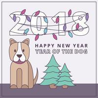 Vector Ano da Ilustração do Cão