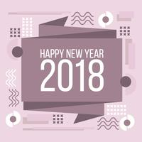 Cartão Geométrico de Ano Novo vetor