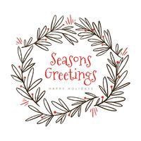 Grinalda linda do Natal com citações do Natal vetor